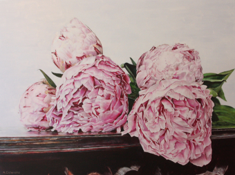 Peonies on Table