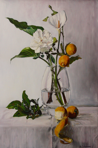 White Flowers and Lemons